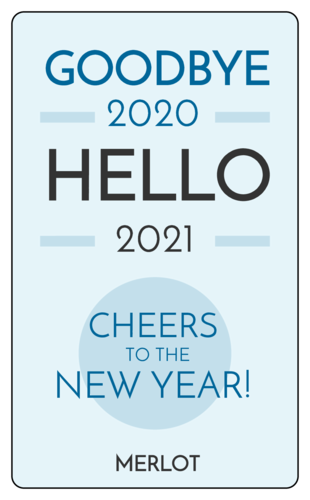"""Cheers To The New Year"" Wine Bottle Label"