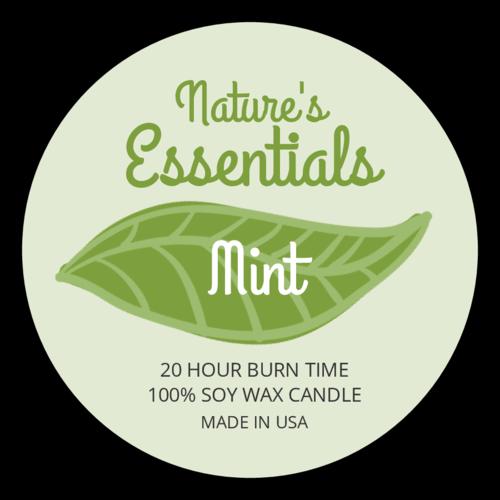 Green Leaf Candle Label