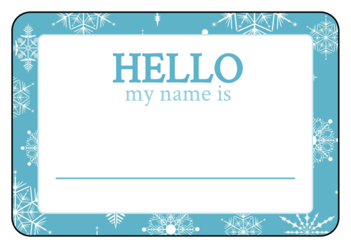 Winter Wonderland Name Tag