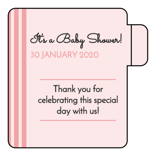 Striped Baby Shower Lip Balm Favor Label