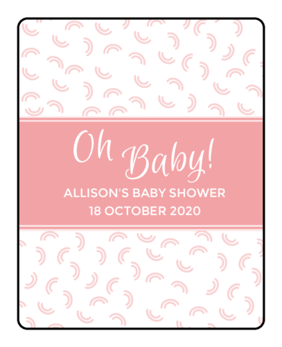 """Oh Baby"" Baby Shower Lip Balm Label"