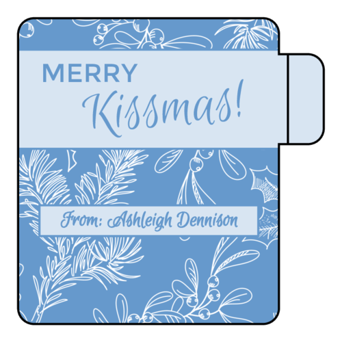 """Merry Kissmas"" Lip Balm Label"