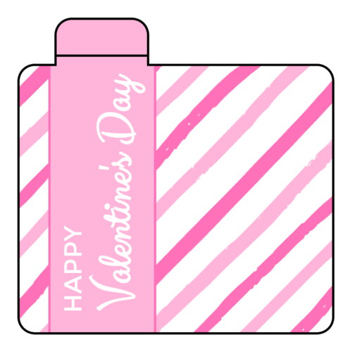 Candy Stripe Valentine's Day Lip Balm Label