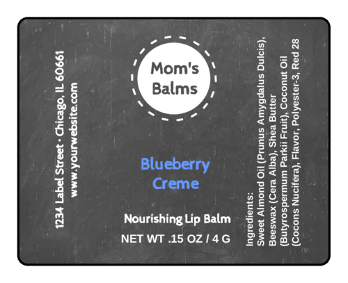 Black Board Lip Balm Label