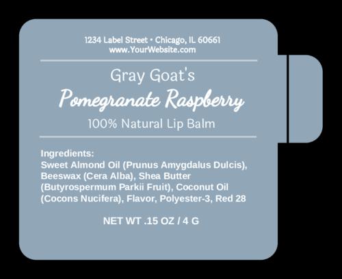 Apothecary Lip Balm Label