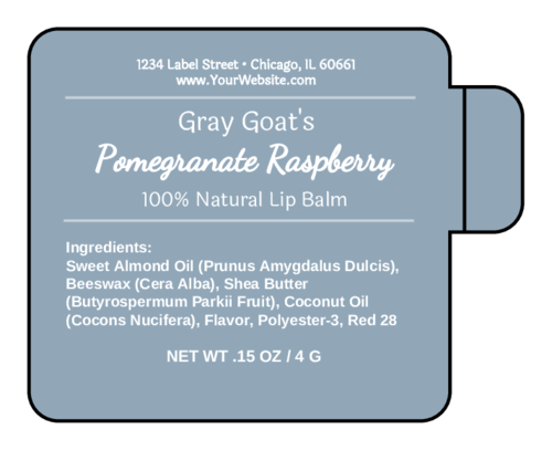 Apothecary Lip Balm Label