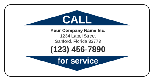 """Call for Service"" Business Label"
