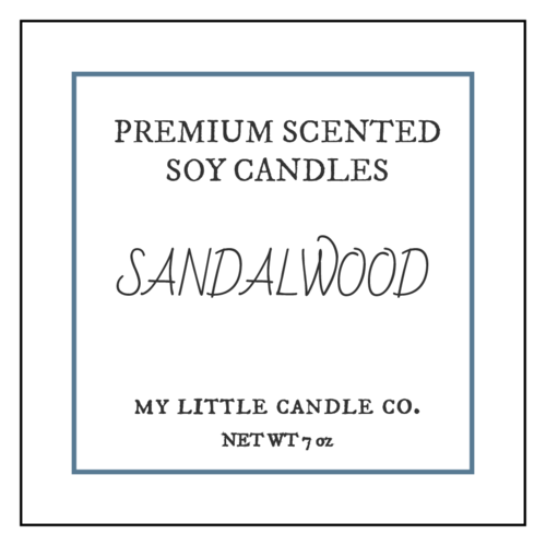 Sophisticated Candle Label