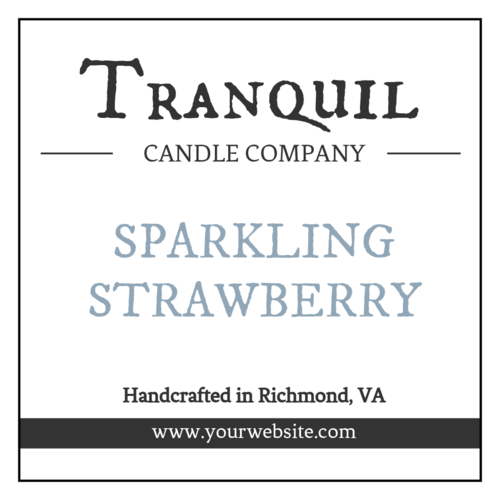 French Quill-Style Candle Label