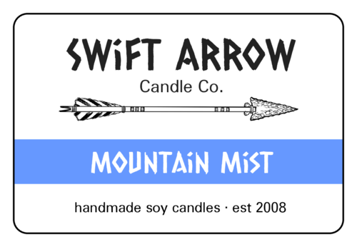 Tribal Arrow Candle Label