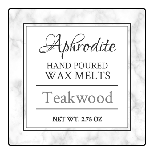 Marble Wax Melt Label