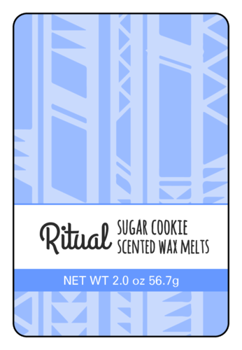 Tribal Wax Melt Label