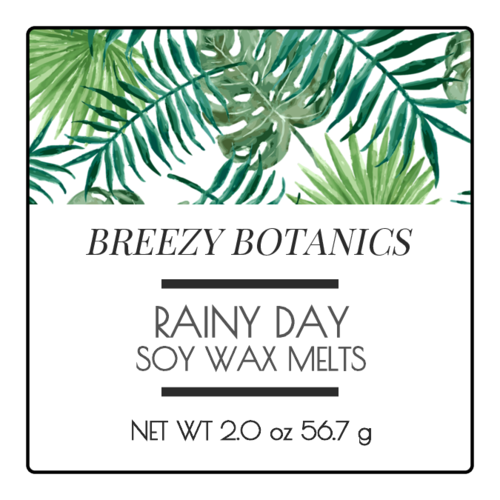 Botanical Wax Melt Label
