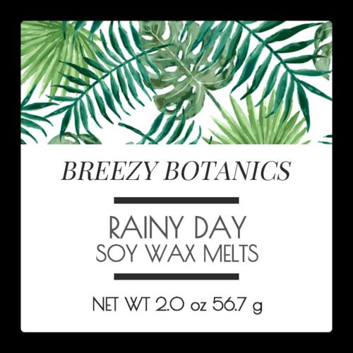 Botanical Wax Melt Label