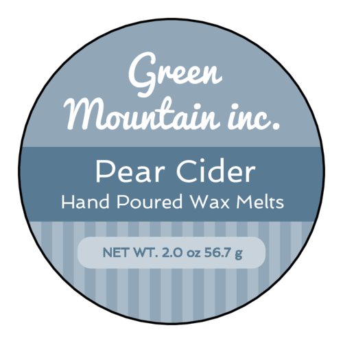 Traditional Striped Wax Melt Label