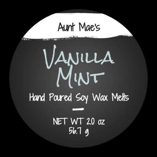 Chalkboard Style Wax Melt Product Label