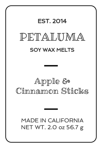 Black and White Wax Melt Product Label