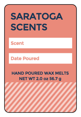 Write-In Wax Melt Label