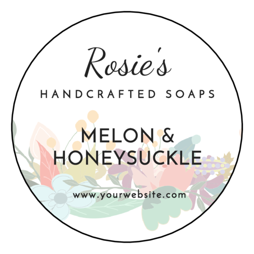 Floral Soap Bar Label