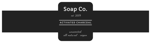 Natural Charcoal Soap Label
