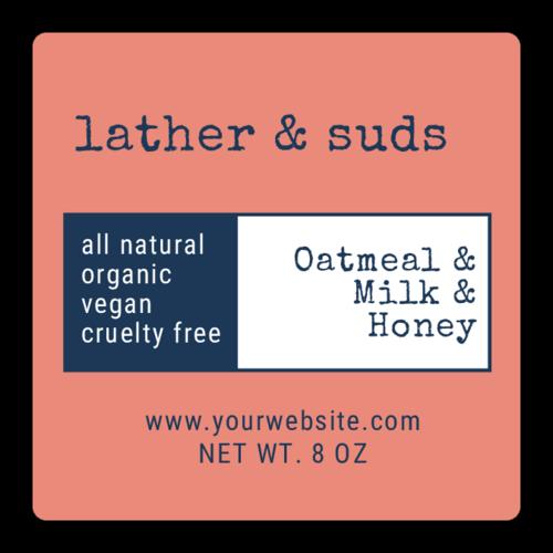 Two-tone Soap Label