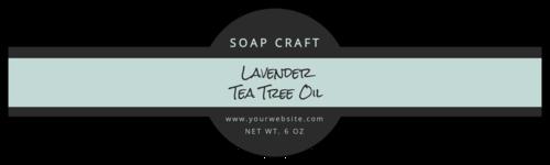 Two-Tone Wrap-Around Soap Label