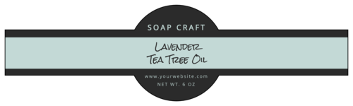 Two-Tone Wrap-Around Soap Label