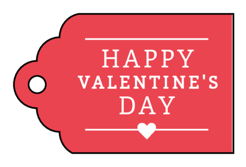 """Happy Valentine's Day"" Gift Tag"