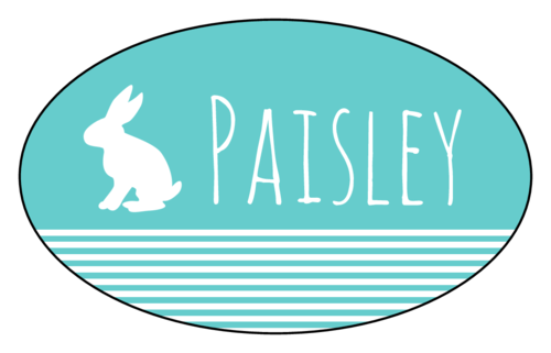 Easter Bunny Gift Tag Label