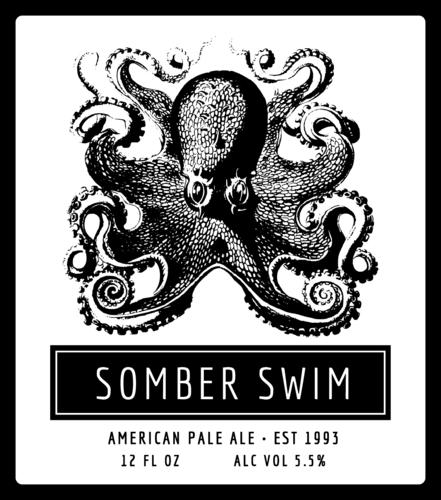 Octopus Beer Bottle Label