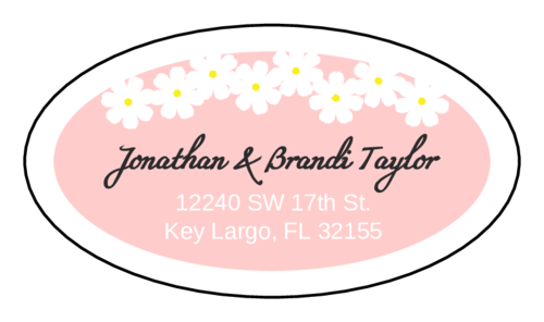 Spring Flowers Address Sticker