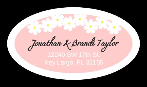 Spring Flowers Address Sticker