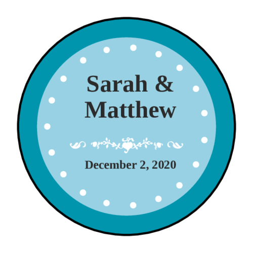 Colonial Wedding Envelope Seal Label