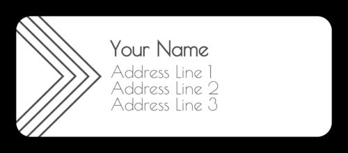Arrow Address Label