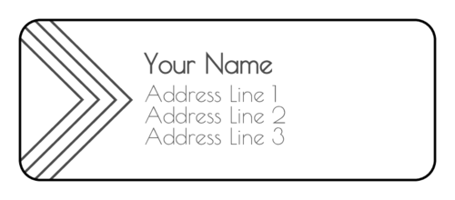 Arrow Address Label