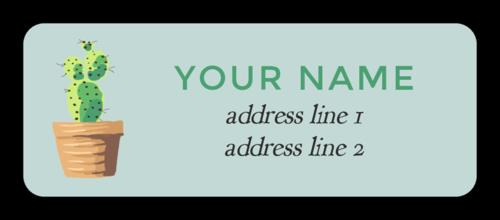 Cactus Address Label