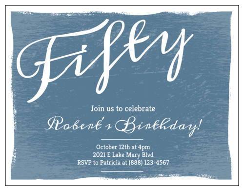 Vintage Cardstock Birthday Invite