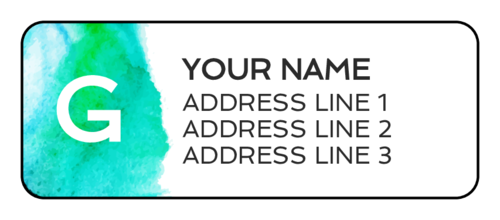 Watercolor Monogram Address Label