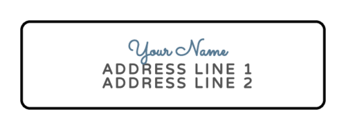 Cursive Return Address Label