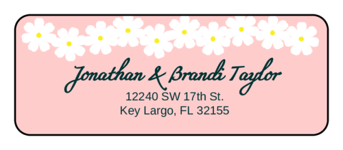 Spring Flowers Address Label