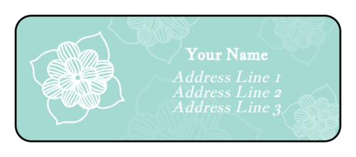 Sketched Floral Address Label