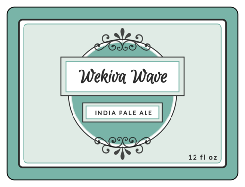 """Wekiva Wave"" Beer Bottle Label"