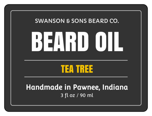 Beard Oil Cosmetic Label