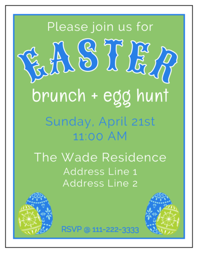 Easter Brunch Cardstock Invitation