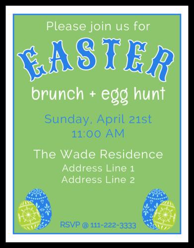 Easter Brunch Cardstock Invitation