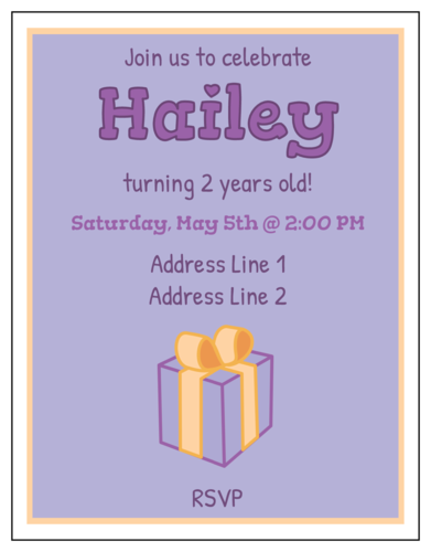 Classic Birthday Invitation
