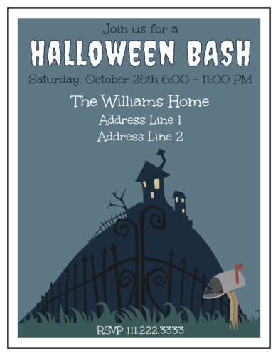 Halloween Haunted House Party Invite