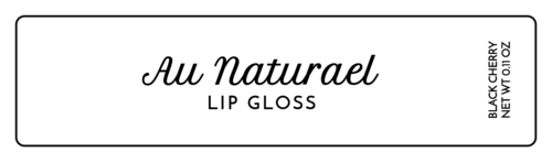 Sheer Simple Lip Gloss Label