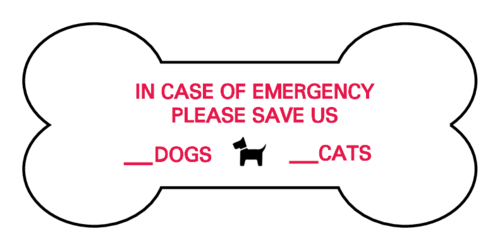 Pet Emergency Dog/Cat Notification Label