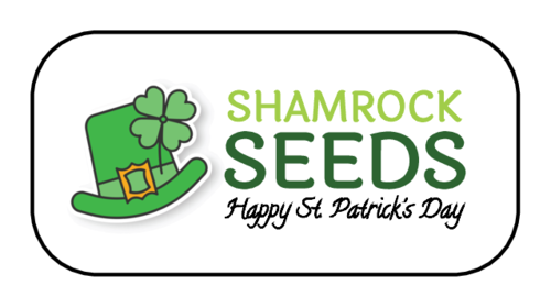 """Shamrock Seeds"" St. Patrick's Day Favor Label"